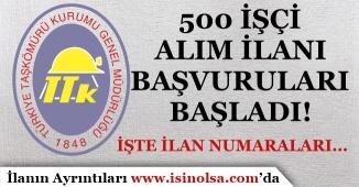 TTK 500 İşçi Alımı İŞKUR Üzerinde Yayımlandı ve Başvurular Başladı!