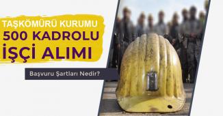 Türkiye Taşkömürü Kurumu 500 Kadrolu İşçi Alımı 2019