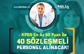 Üniversite KPSS En Az 50 Puan İle Sözleşmeli Personel Alımı Devam Ediyor!
