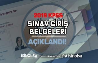 2019-KPSS A Sınav Giriş Belgeleri Açıklandı!