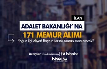 Adalet Bakanlığı 171 Memur Alımına Yoğun İlgi! Başvurular Ne Zaman Sona Erecek?