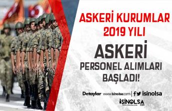 Askeri Kurumlara ( MSB - Jandarma ) 2019 Yılı Askeri Personel Alımları