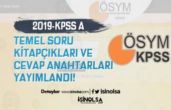 KPSS A Grubu ve Öğretmenlik Kitapçıkları ve Cevap Anahtarları Yayımlandı