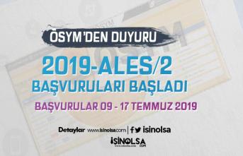 ÖSYM'den Duyuru: 2019-ALES/2 Başvuru Kılavuzu Yayımladı! Başvurular Başladı!