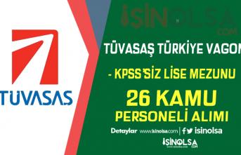 TÜVASAŞ KPSS'siz Kura İle 26 Kamu Personeli Alımı Başvuruları Başladı!