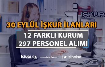 İŞKUR 30 Eylül Haftanın 297 Kamu Personeli Alım İlanları! En Az İlköğretim