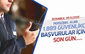 İstanbul ve İlçelerindeki Okullara 1889 Güvenlik Personeli Alımı Başvuruları Bugün Son!