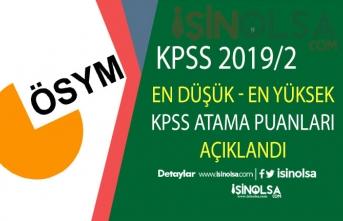 KPSS 2019/2 Memur Alımı En Düşük ve Yüksek KPSS Atama Puanları Açıklandı