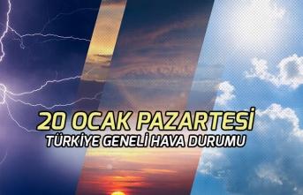 20 Ocak 2020 Pazartesi Ankara İstanbul Hava Durumu!