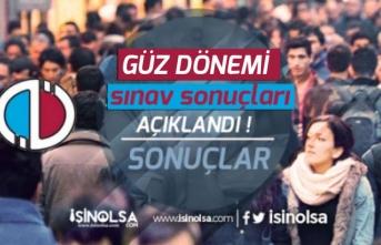 Anadolu Üniversitesi Açıköğretim AÖF Sınav Sonuçları Açıklandı!