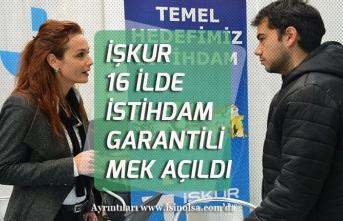 İŞKUR'da 16 İlde İstihdam Garantili MEK Açıldı! 75 Tl Harçlık Verilecek