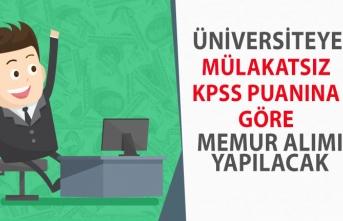 İslam Bilim ve Teknoloji Üniversitesi KPSS Puanı ile Mülakatsız Memur Alımı!