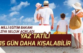 MEB Bakanı Selçuk Yaz Tatilinin Kısalabileceğini Açıkladı!