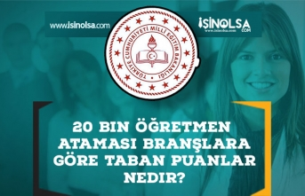 20 Bin Öğretmen Ataması Branşlara Göre Taban Puanlar Nedir?