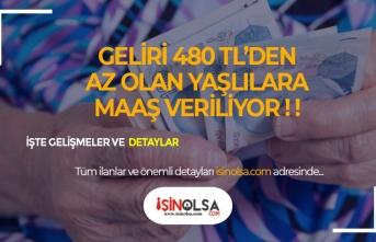 480 TL'den Az Geliri Olan Yaşlılara 670 TL Aylık Verilecek!