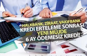 Halkbank, Ziraat, Vakıfbank Kredi Erteleme Sonrası 6 Ay Ödemesiz Kredi!