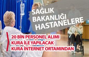 Hastanelere 20 Bin ÖGG, Temizlikçi, Teknisyen İşçi Personel Alımı Mülakatsız Olacak!