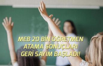 MEB 20 Bin Sözleşmeli Öğretmen Ataması Sonuçları Geri Sayım Başladı