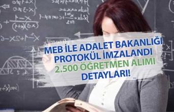 MEB, Adalet Bakanlığı Protokolü İmzaladı! 2500 Öğretmen Alımı İçin Detaylar!