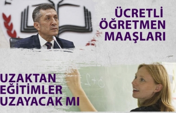 MEB Bakanı Selçuk Ücretli Öğretmenlerin Maaşları Açıklaması