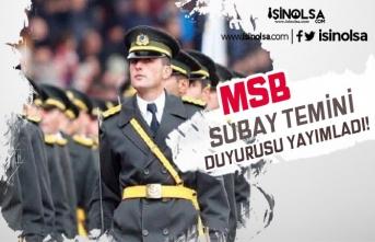 MSB Türk Silahlı Kuvvetleri Subay Temini Duyurusu Yayımladı