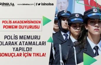 Polis Akademisi POMEM Duyurusu Yaptı! 24. Dönem POMEM Adayları Polis Olarak Atandı!