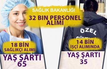 Sağlık Bakanlığı 18 Bin Sağlıkçı: 65, 14 Bin İşçi: 35 Yaş Şartı Var!