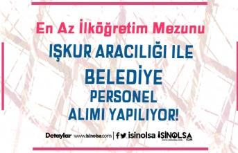 Türkeli Belediye Başkanlığı İŞKUR'da İlköğretim Mezunu 8 Personel Alım İlanı Yayımladı