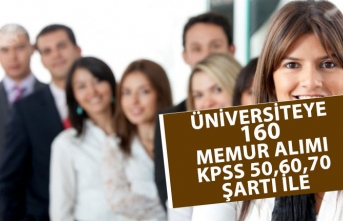 Üniversite Hastanesine 160 Memur Personel Alımı Yapılacak!