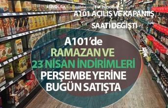 A101 21 Nisan Salı Aktüel İndirim Kataloğu Ramazan ve 23 Nisan İndirimi! (Açılış-Kapanış Saati)