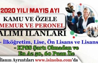 2020 Mayıs Ayı Kamuya Düşük KPSS ile KPSS'siz Kamu Personeli, Memur Alımı Yapılacak!