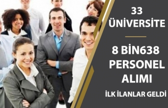 33 Üniversiteye 8 Bin 638 Memur Personel Alımı! İlk İlanlar Geldi!