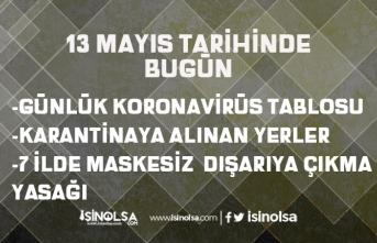 7 İlde Sokağa Maskesiz Çıkmak Yasaklandı! 13 Mayıs Karantina Alınan Yerler! Günlük Koronavirüs Tablosu!
