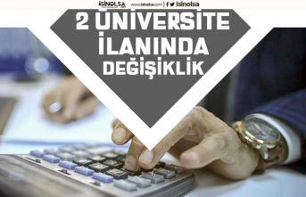 Balıkesir ve Sivas Üniversitesi Memur Alımı İlanlarında Bazı Kadrolar İptal Edildi!