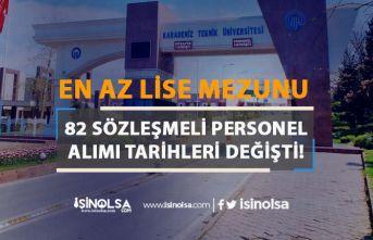 Karadeniz Teknik Üniversitesi 82 Kamu Personeli Alım Tarihi Güncellendi
