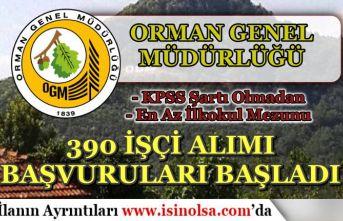 Tarım Bakanlığı OGM Geçici 390 İşçi Personel Alımı İŞKUR'da Başladı! Nasıl Başvuru Yapılır?