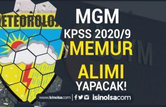 MGM ÖSYM Aracılığı İle KPSS 2020/9 İle Memur Alımı ( Mühendis-Mimar )