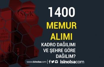 SGK 1400 Memur Alımı Genel ve Özel Şartlar İle Kadroları ve Şehirler Nedir?