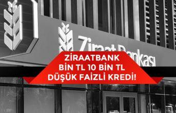 Ziraat Bankası Bin TL, 10 Bin Tl Düşük Faizli Kredi Başvurusu Nasıl Yapılacak?