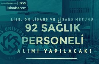 Kafkas Üniversitesi 92 Sağlık Personeli Alım İlanı Yayımlandı! En Az Lise Mezunu