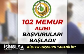 Orman Genel Müdürlüğü 102 Büro Memuru ve Tekniker Alımı Başladı!