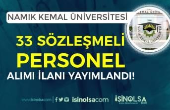 Tekirdağ Namık Kemal Üniversitesi 33 Sağlık Personeli Alımı! En Az Lise Mezunu