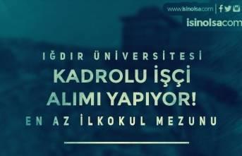 Iğdır Üniversitesi Kadrolu İşçi Alımı İlanı Yayınladı! En Az İlkokul Mezunu