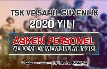 TSK ve Sahil Güvenlik 2020 Yılı Uzman Erbaş, Astsubay ve Devlet Memuru Alıyor!