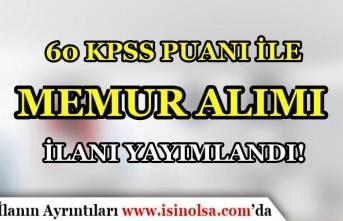 Uzgörür Belediyesi KPSS 60 Puan İle VHKİ Alımı Yapacak!