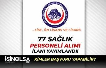 Afyonkarahisar Sağlık Bilimleri Üniversitesi 77 Personel Alıyor! En Az Lise