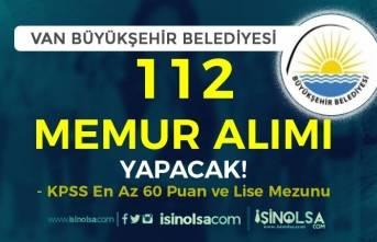 Van Büyükşehir Belediyesi 7 Unvanda KPSS En Az 60 Puan ile 112 Memur Alımı!