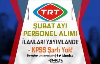 TRT Şubat Ayı KPSS Siz Personel Alımı İlanları! 34 Açık İş İlanı