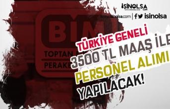 BİM Türkiye Geneli En Az 3500 TL Maaş İle Personel Alacak! Online Başvuru
