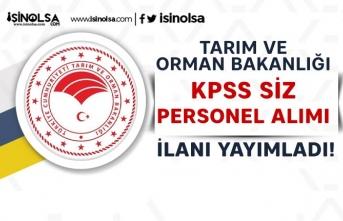 Tarım Bakanlığından Yeni İlan: KPSS siz Temizlik Personeli ve Elektrikçi Alacak